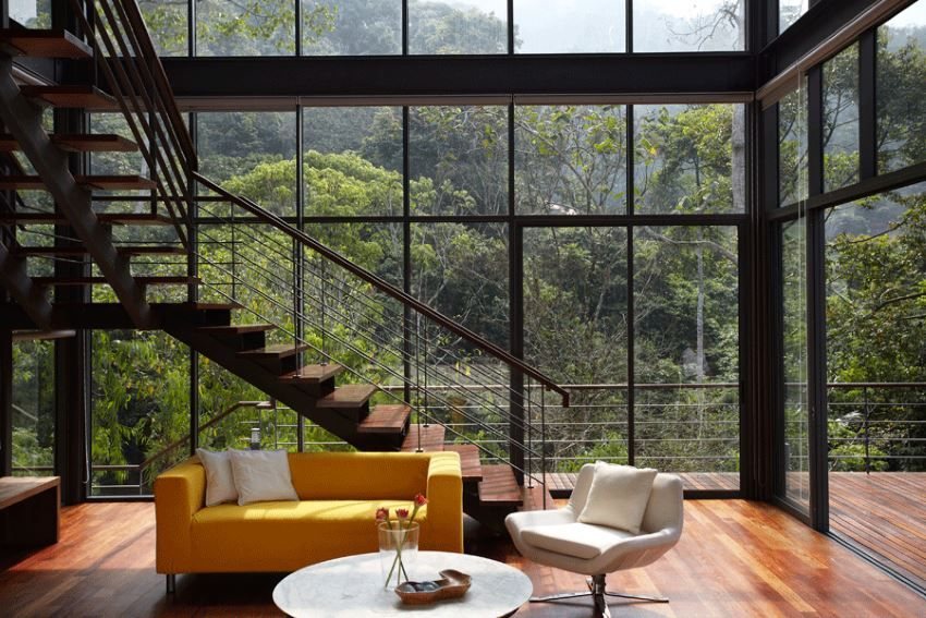 10 Modern Rooms With A Forest View Modern Tropical House House