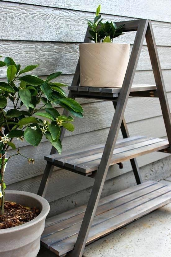 Builders Showcase Chic Little House A Frame Plant Stand Outdoor