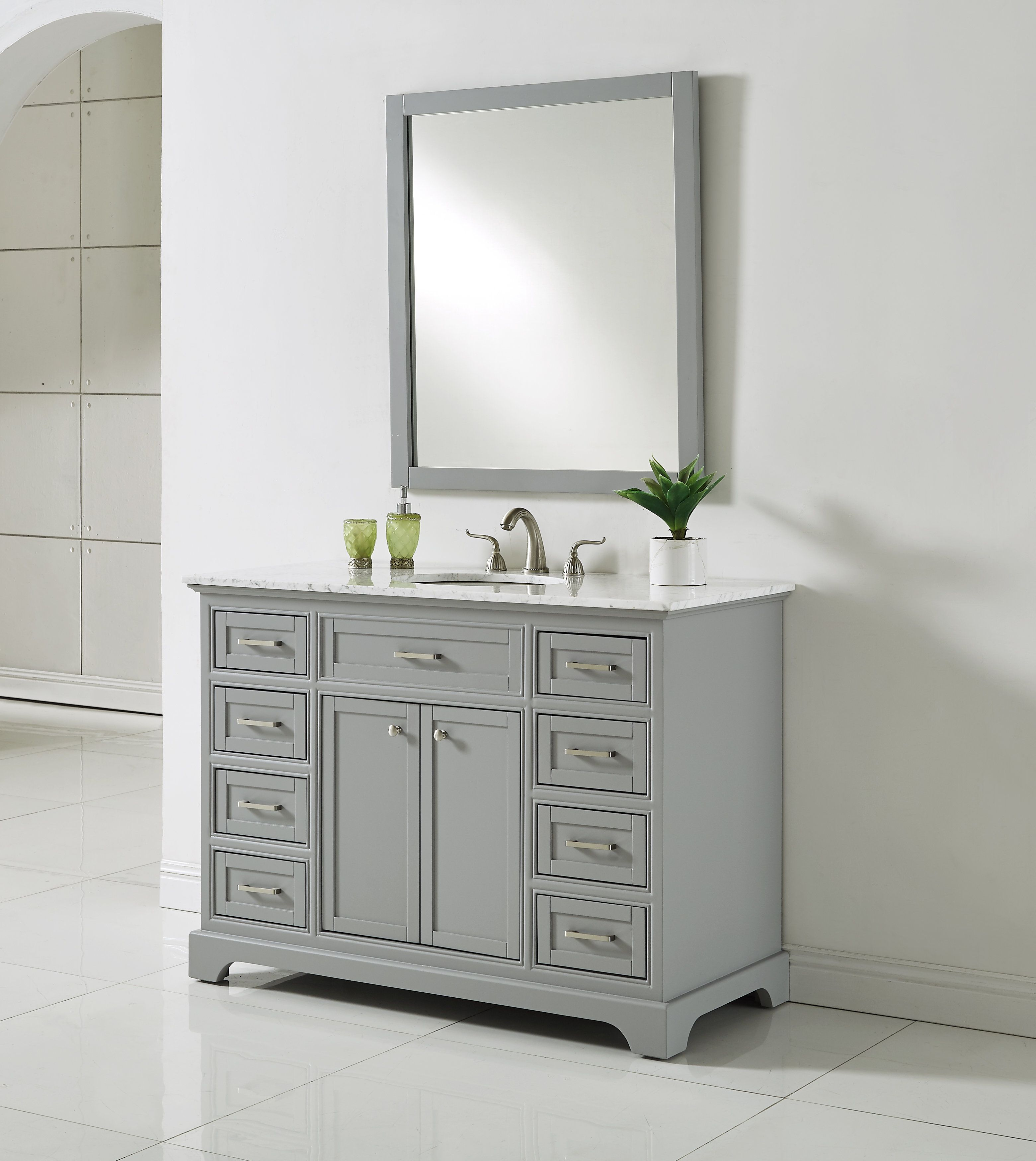 "Fawkes 11"" Single Bathroom Vanity Set  Bathroom vanity, Single"