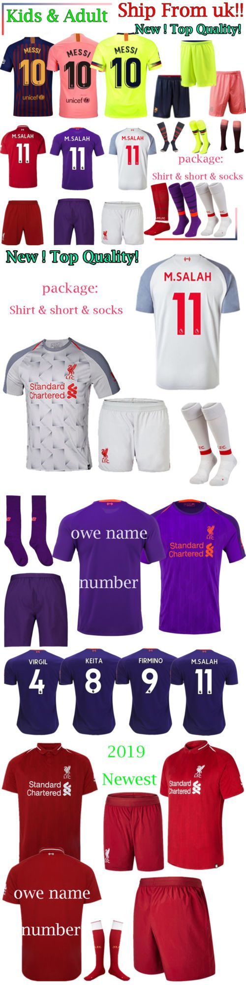 fcbe783691e Outfits and Sets 156790: 2019 Football Kid Adult Kit Child Short Shirt  Socks Soccer Jersey Club Suit Set -> BUY IT NOW ONLY:… | Outfits and Sets  156790 ...