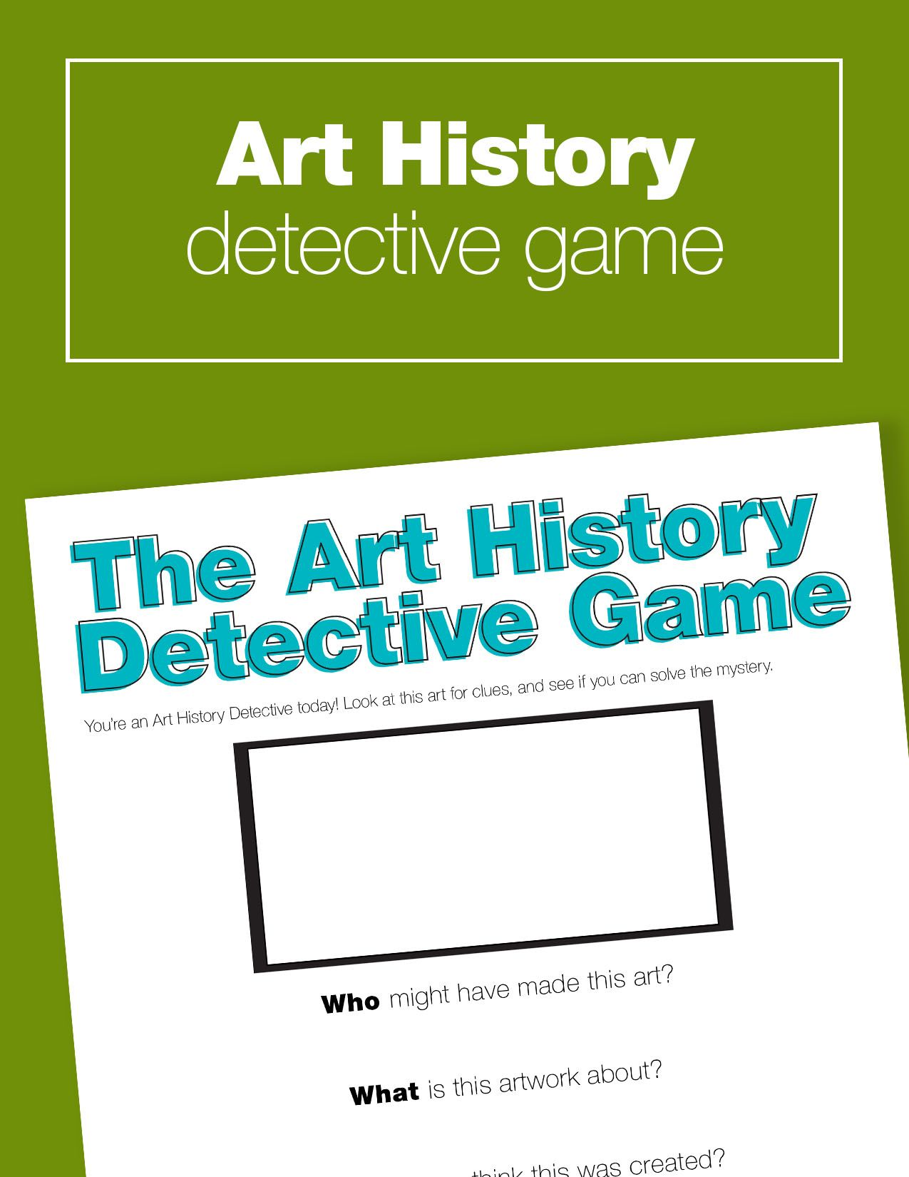 How To Play The Art History Detective Game | Art history, Gaming and ...