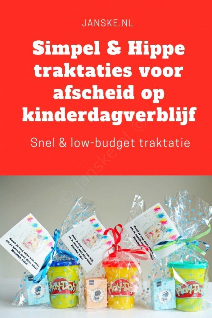 DIY #12 Simpele & hippe traktaties voor afscheid op kinderdagverblijf - Janske.nl