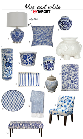 Blue And White Finds At Target Emily A Clark Living Room Decor