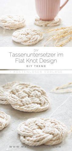 Untersetzer im Flat Knot Design