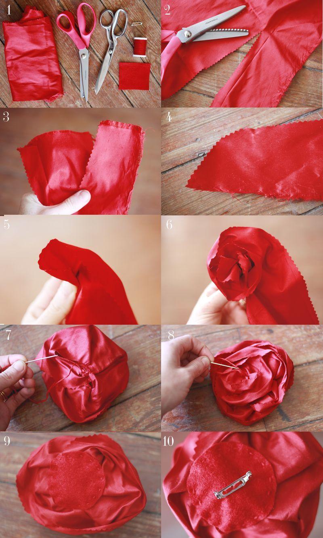 Make Your Own Silk Flower Brooches Crafts Diy Pinterest Silk