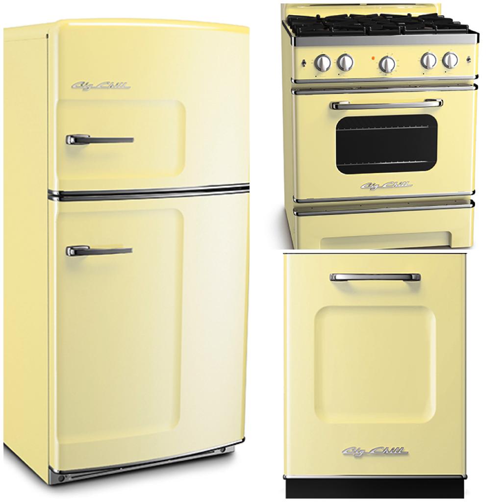 Appliances in 6 Classic Spring Shades Big chill, Retro
