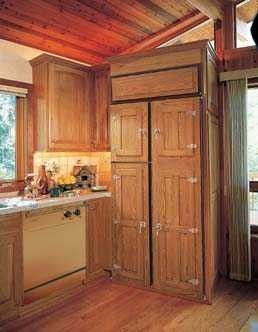 refrigerator wood panels to match your cabinets