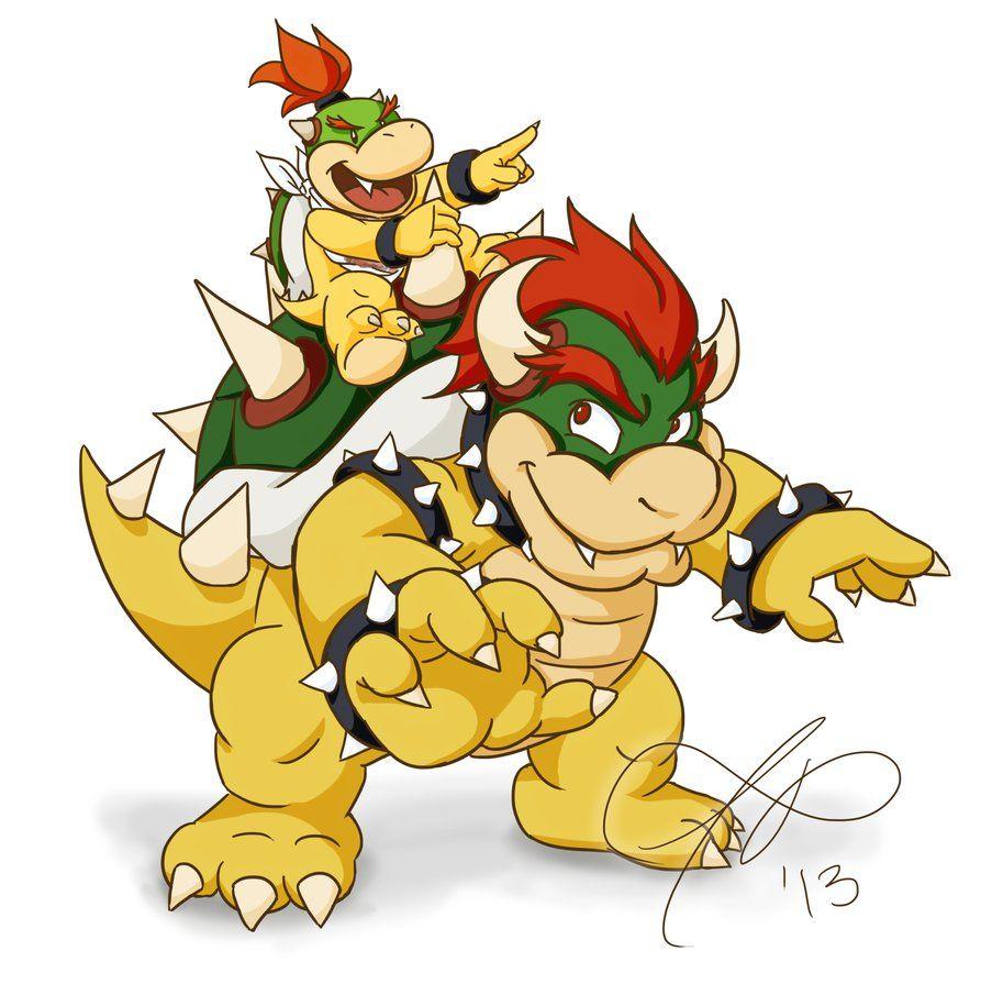 Bowser and Bowser Jr. from Super Mario! So cute! | Super Mario ...