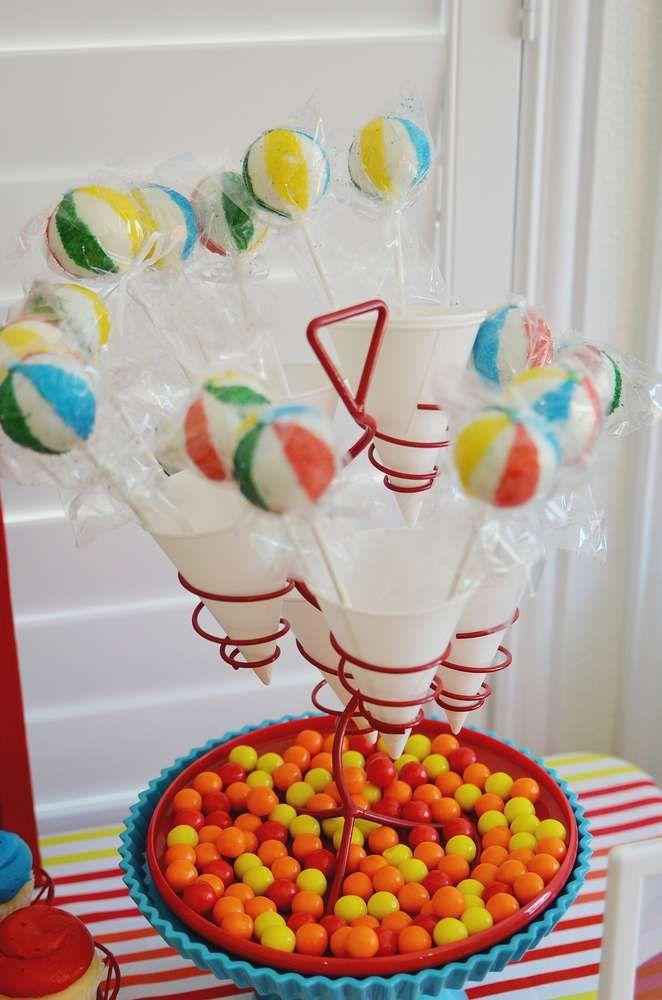 Beach ball Birthday Party Ideas Beach ball Beach ball birthday