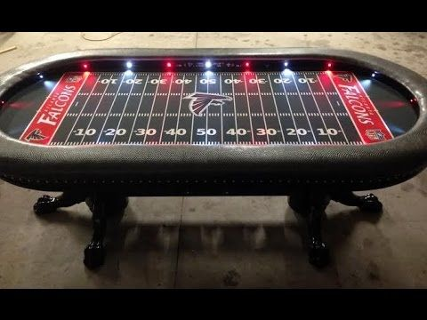 Lovely Custom Poker Tables With A Sports Theme #1