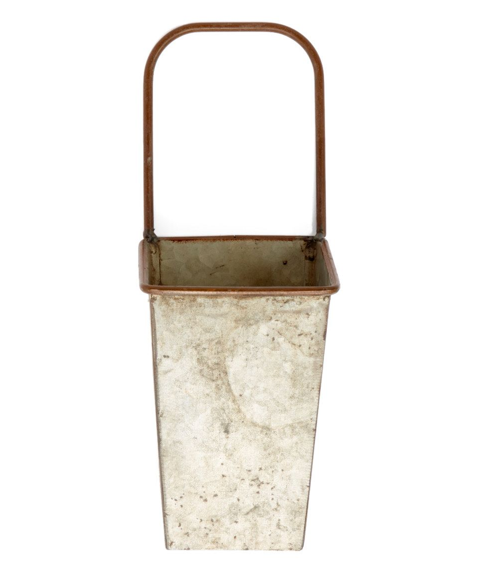 Another great find on #zulily! Square Tin Bucket Planter by PD Home and Garden #zulilyfinds