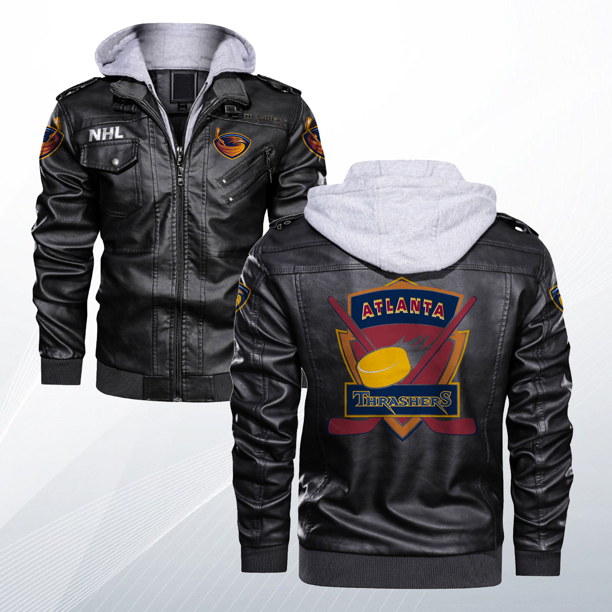 Made Of Premium Crafted Faux Leather To Give You A Genuinely High Quality Jacket Has A Removable Hoodie Our Premium Crafted Prod Casual Jacket Jackets Casual [ 2000 x 2000 Pixel ]