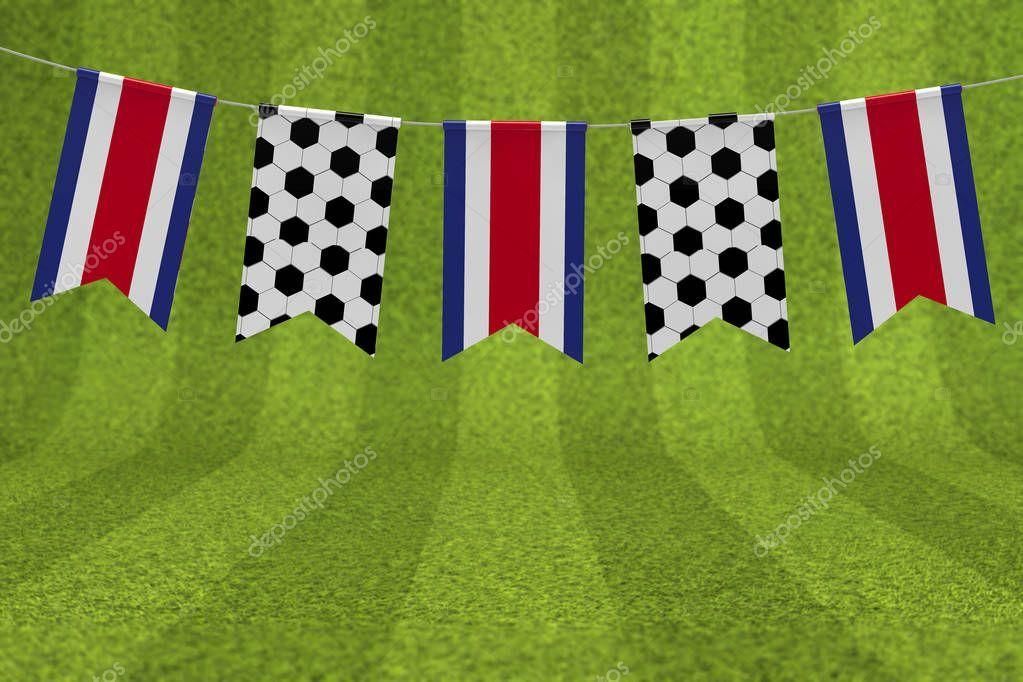 Costa Rica Flag And Soccer Ball Texture Football Flag Bunting 3 Stock Sponsored Flag Soccer Costa Rica Ad Flag Football Bolivia Flag Soccer Ball