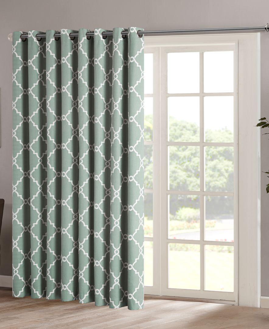 Saratoga 100 X 84 Fretwork Print Grommet Patio Curtain Panel In 2018