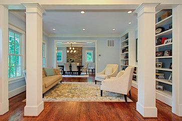 Living Room Support Columns Design Ideas Pictures Remodel And