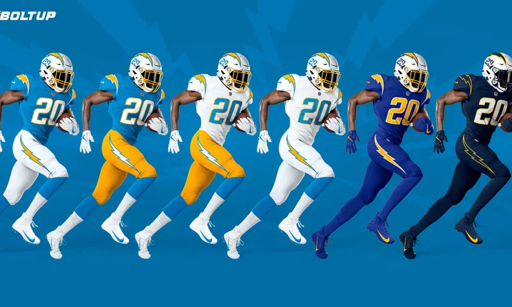 Check It Out Chargers Players Rocking New Uniforms For First Time In 2020 Los Angeles Chargers Chargers Players Chargers