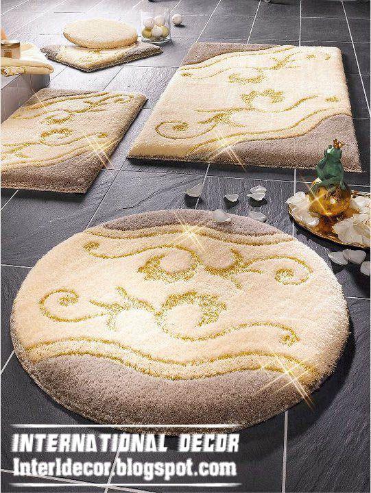 rugs bathroom | yellow bathroom rug set model, modern bath rug ...