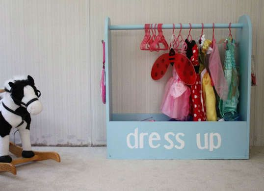 This DIY mini clothes rack is an adorable solution for keeping costumes organized. & Too Many Toys? 13 Easy DIY Storage Ideas for the Whole House ...