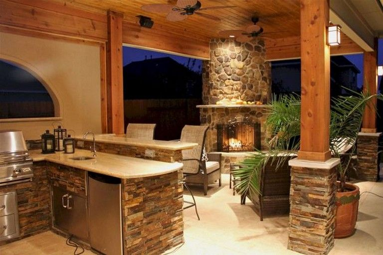 55 Fantastic Outdoor Kitchens Ideas On A Budget kitchen