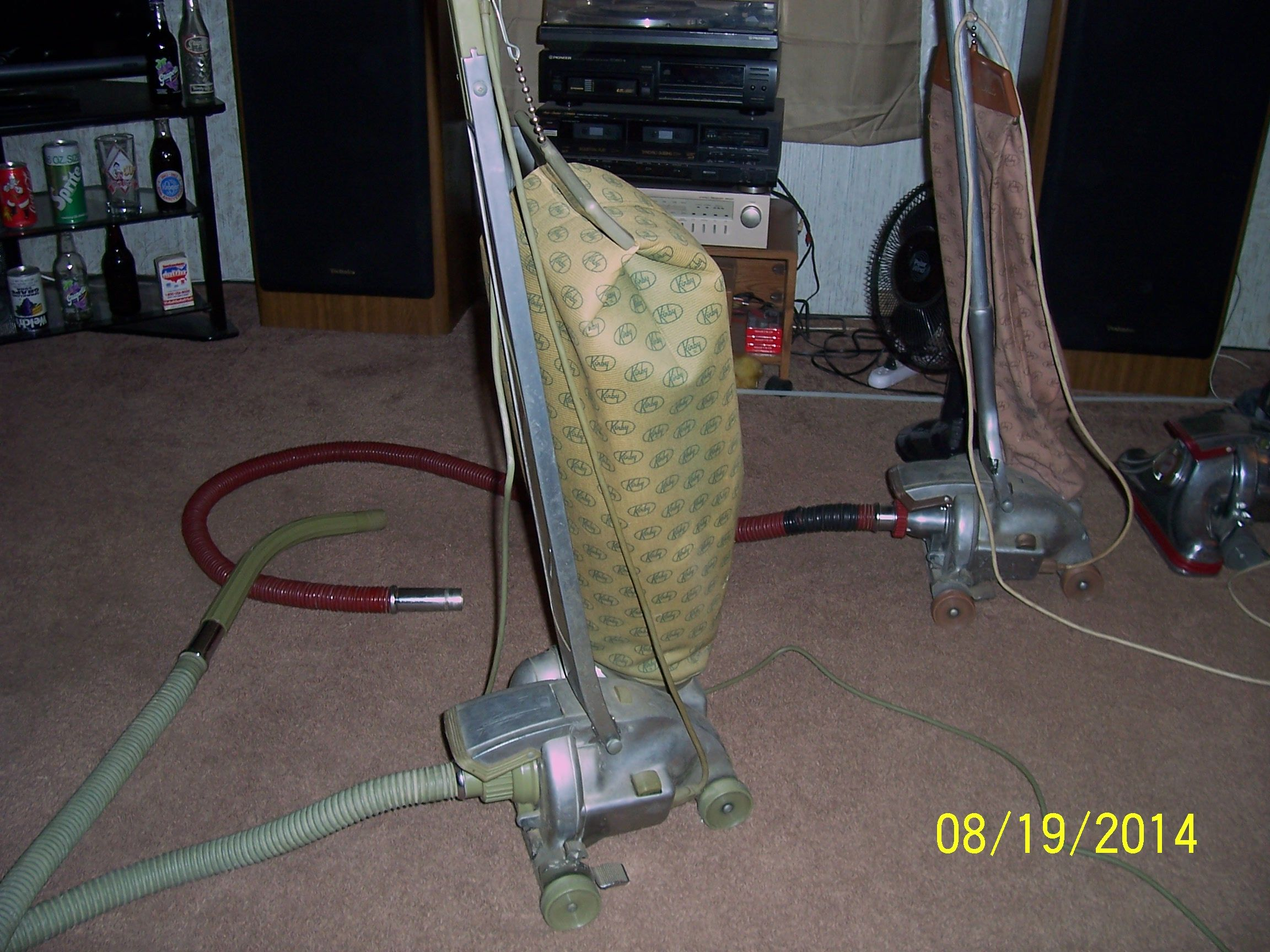 Dual 80 Kirby With A Dual 50 In The Background Vintage Vacuum Cleaner Kirby Vacuum Vintage Appliances