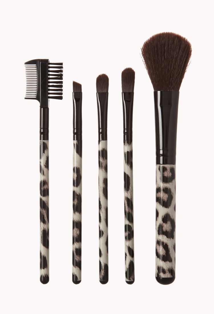 Leopard Cosmetic Brush Set