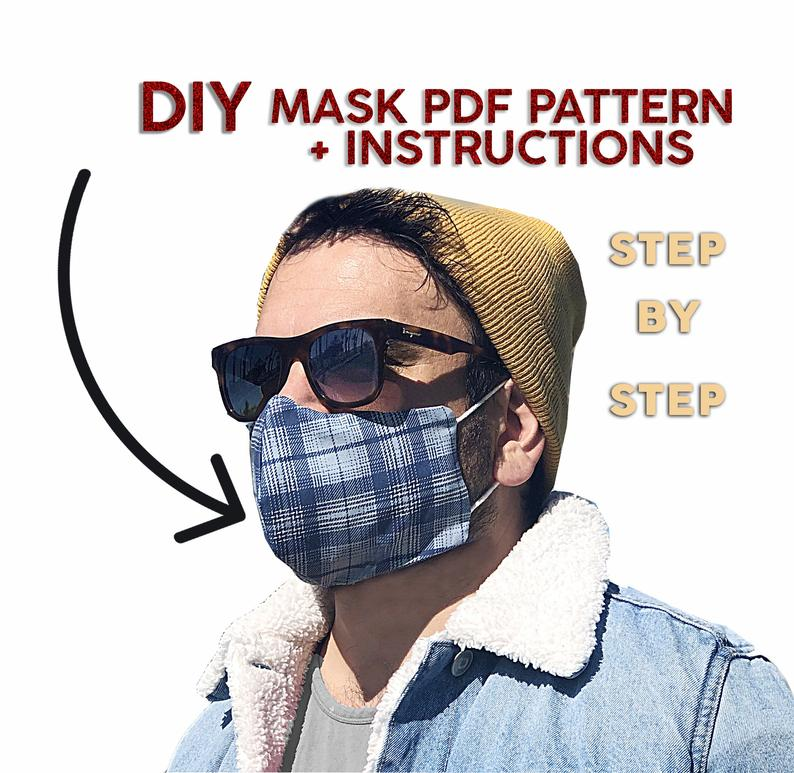 Mask Pattern PDF Mask with Pocket for Filter Etsy in