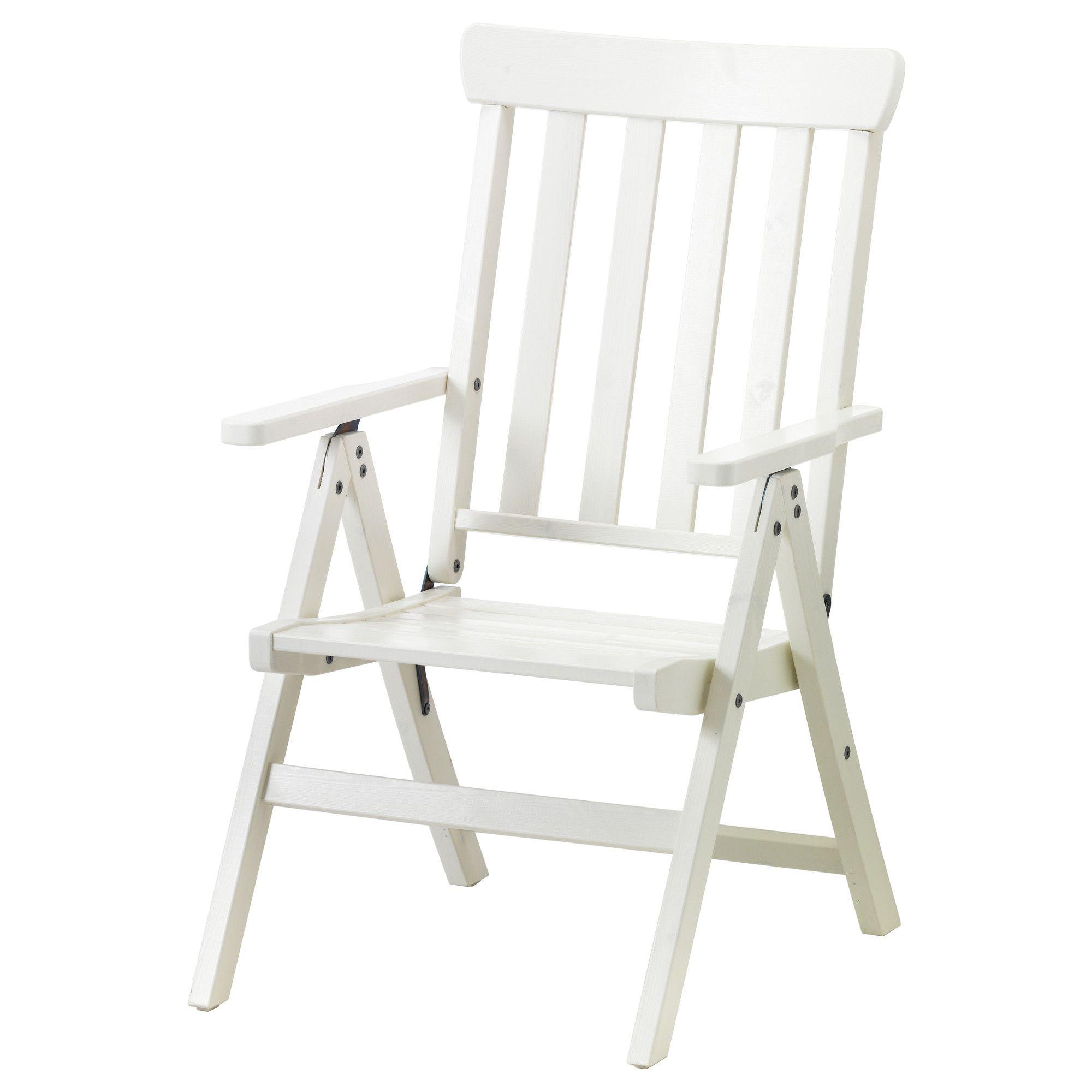 ÄNGSÖ Reclining chair - foldable white IKEA £70   Future House ...