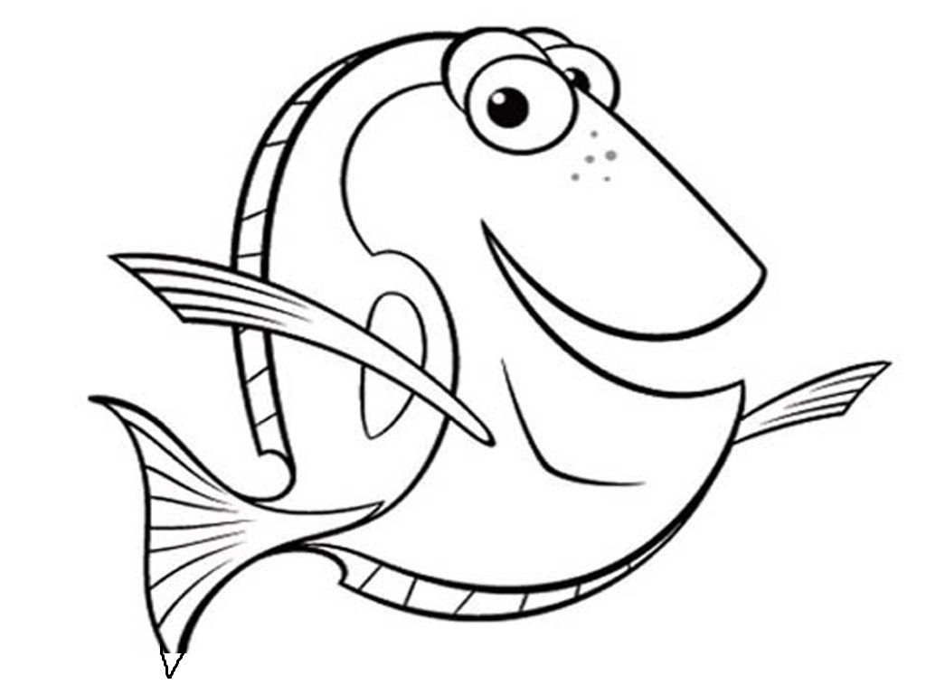 Funny Underwater Fish Coloring Pages For Kids Printable