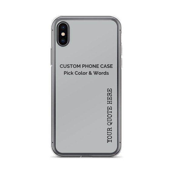 the best attitude 6b70f f6ef1 BLACK FRIDAY: Custom Quote iPhone X Case, iPhone xs, iPhone xs max ...