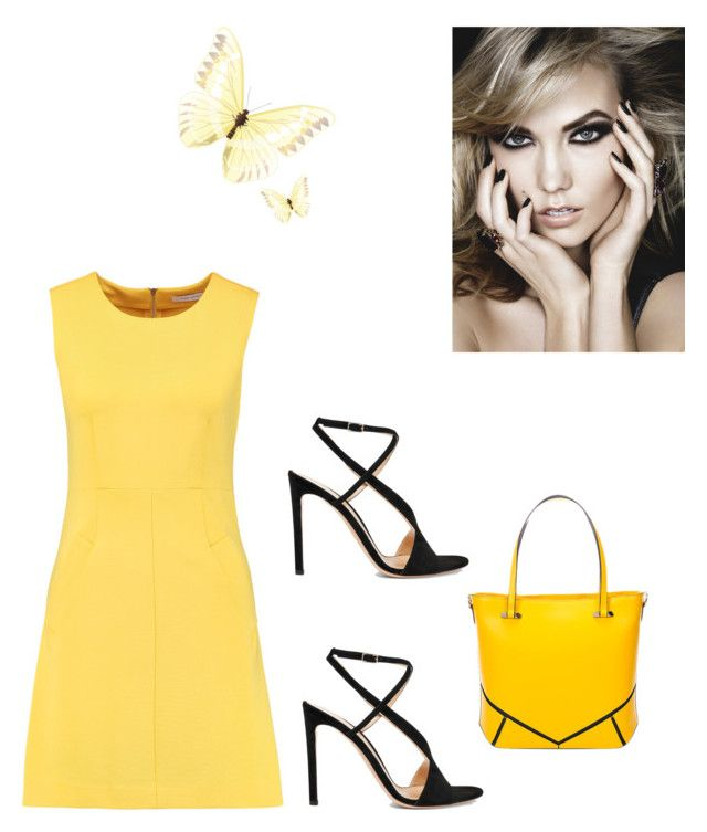 """Yellow Get Away"" by kimberlydalessandro ❤ liked on Polyvore featuring Diane Von Furstenberg and Gianvito Rossi"