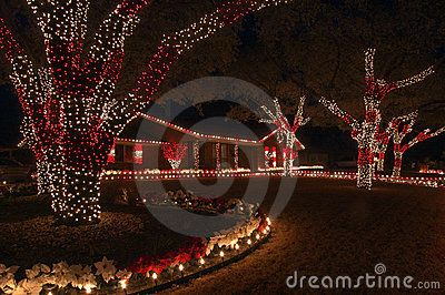 Red And White Christmas Lights By Neonriver Via Dreamstime