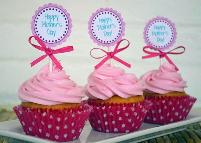 Mother's Day Printable Cupcake Toppers DIY Craft