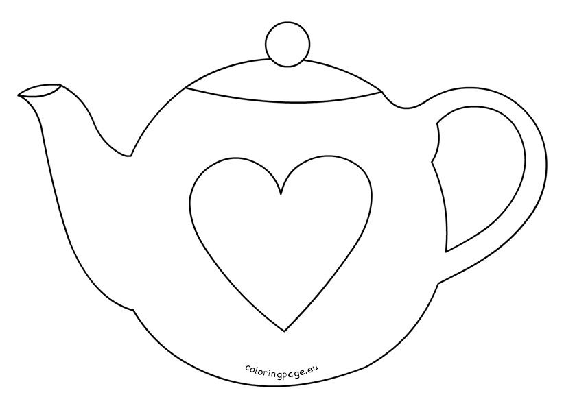 Mother S Day Teapot Card Template Mothers Day Card Template Coloring Pages Card Template