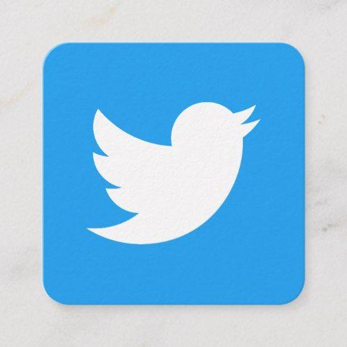 Twitter Logo Social Media Modern Trendy Business Calling Card Zazzle Com Twitter Logo Calling Cards Social Media Logos