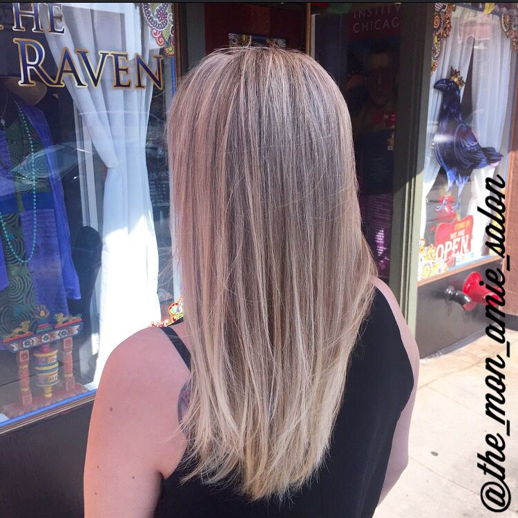 Natural Light Blonde Highlights With Long Layered Haircut Hair By