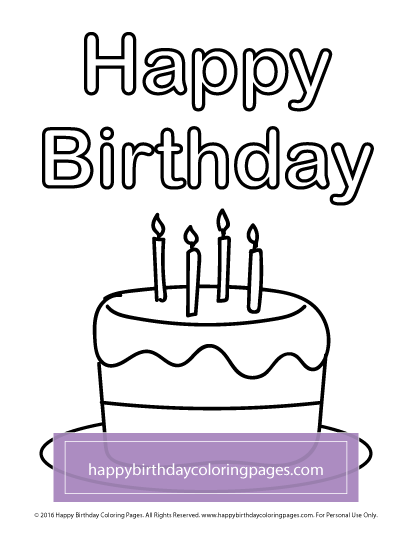 free birthday cakes coloring page happy birthday coloring pages