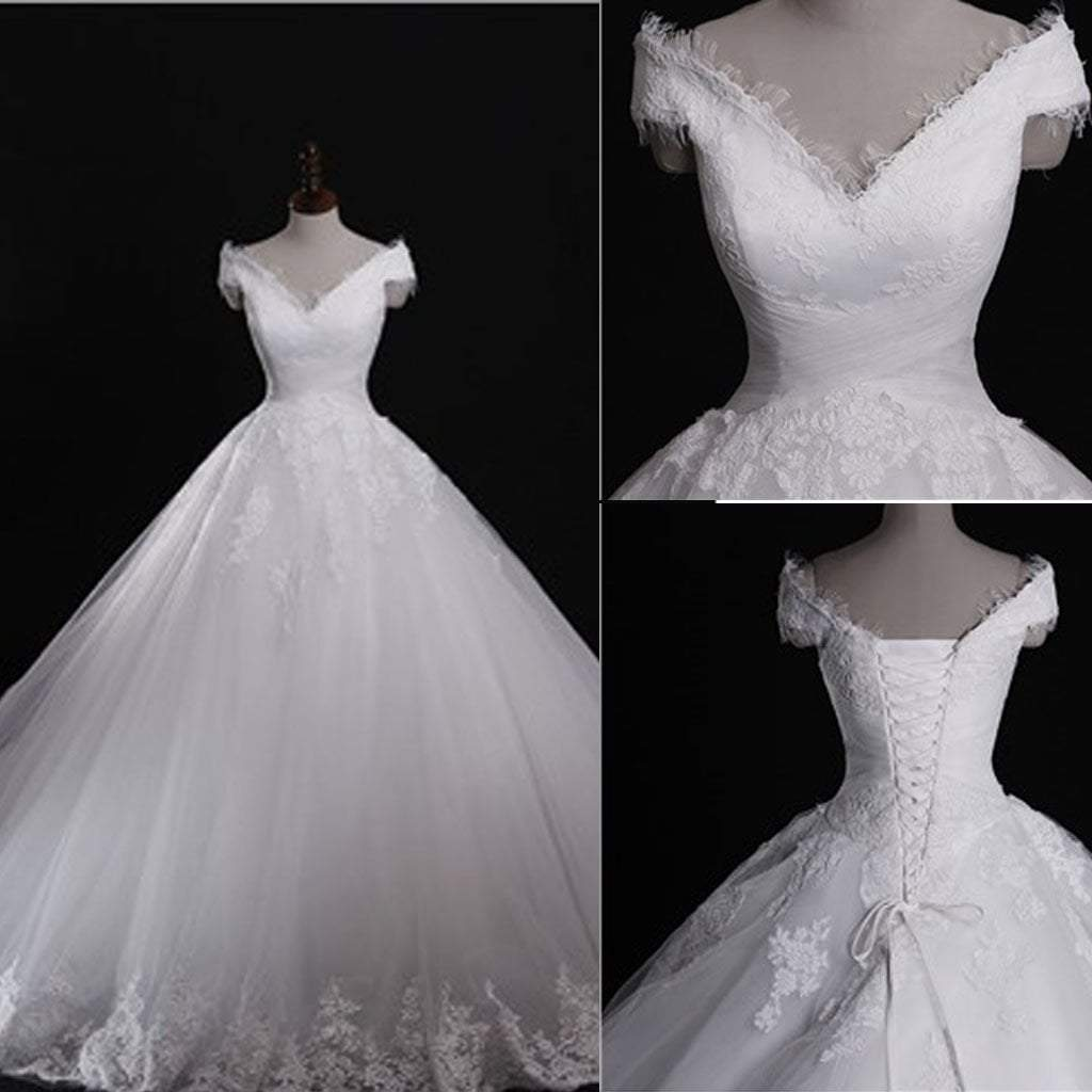 Most expensive wedding dress in the world  Classic Style Off Shoulder Lace Up Vantage Lace Wedding Dresses