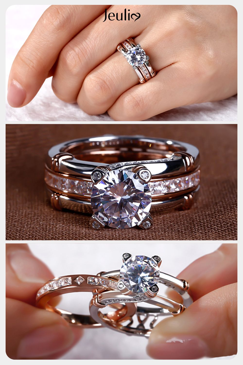 Slyq Jewelry Slyq Jewelry Ring made with Czech crystal for engagement rings