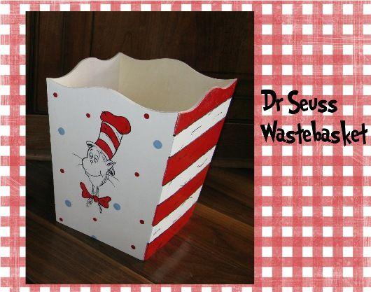 Dr. Seuss Lamps Nursery   Dr. Seuss Cat in the Hat Wastebasket