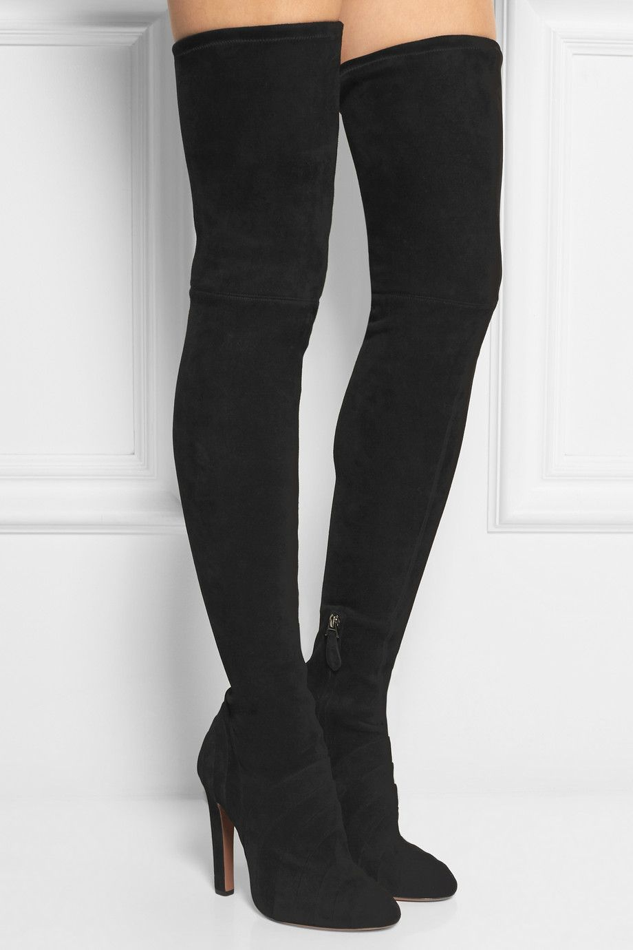 24b15c34457 Alaïa - Stretch-suede over-the-knee boots | Clodhoppers | Boots ...