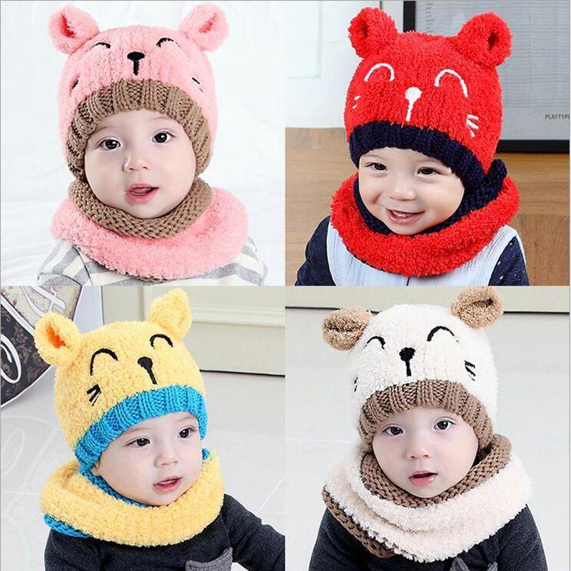 Toddler Kids Girl/&Boy Baby Infant Winter Crochet Knit Hat Beanie Cap Scarf warm
