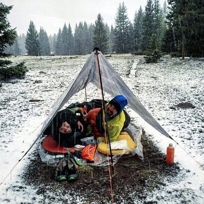 q twinn cuben fiber tarp in the snow q twinn cuben fiber tarp in the snow   backpacking thru hiking      rh   pinterest
