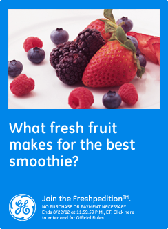 What fresh fruit makes for the best smoothie?  Strawberries by far. #GEfreshFL
