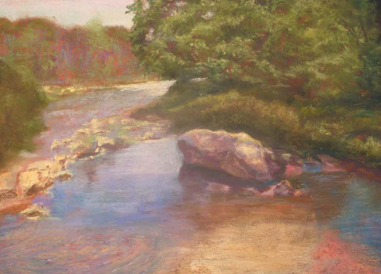 Sandi Graham often shows at Sow's Ear Gallery in Schenectady.  Love this pastel