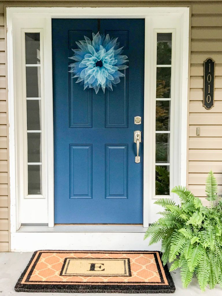 An Edesign Front Door Colour Transformation Before And After