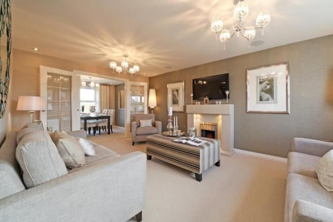 Typical Taylor Wimpey Home Brown Living Room Home Living Room