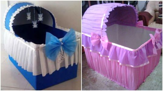 Cuna Para Regalos De Baby Shower Nino.Ideas Fabulosas Hermosas Cunas Decorativas Para Baby Shower