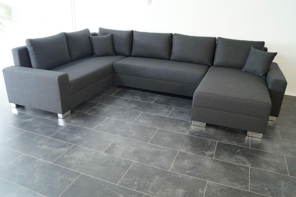 Bettsofa Schlafcouch Sofa U Couch Wohnlandschaft Polsterecke