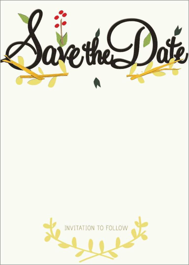 011 Save The Date Templates Word Free Template Ideas Party ...