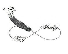 Faire Un Tatouage Infini Plume Oiseau Tatoos Tattoos Strong
